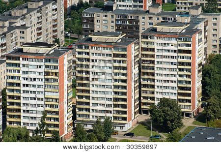 Aerial View Blocks Of Flats
