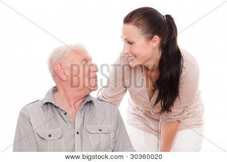 Opa besuchen