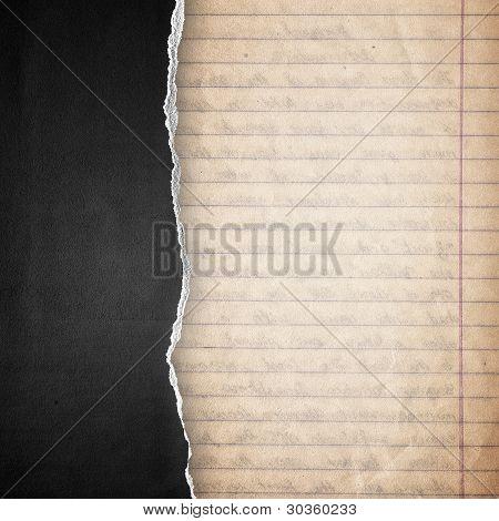Rip Black Paper Background