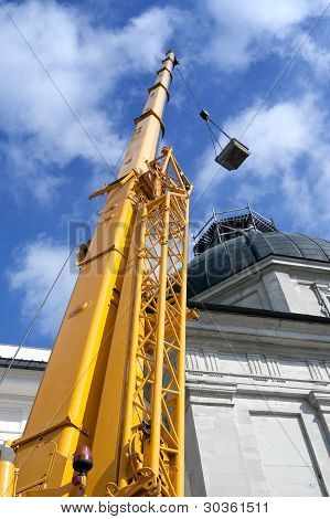 Yellow Mobile Crane Boom
