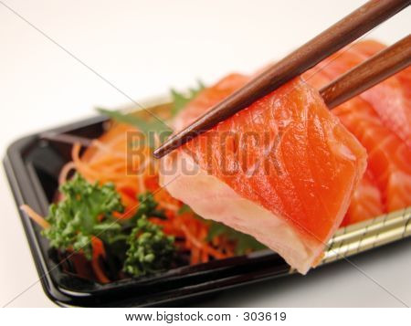 Sashimi And Chopsticks