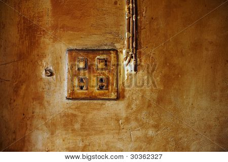 Old Electrical Power Outlet