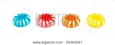 four candies isolated on white
