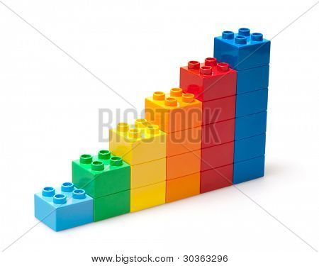 color diagram isolated on white