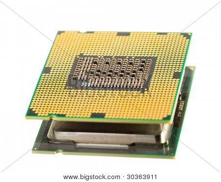 cpu processor isolated on white