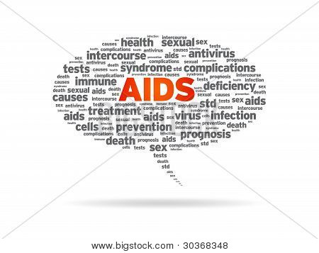 Speech Bubble - Aids