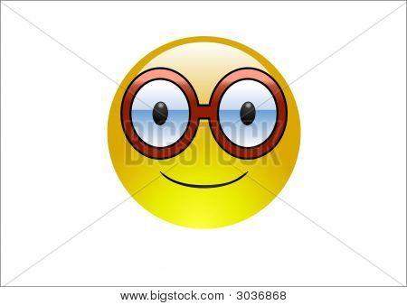 Aqua Emoticon - Brille