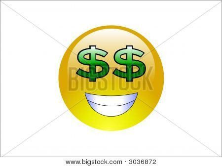 Aqua Emoticons - Dollar Signs (Money)