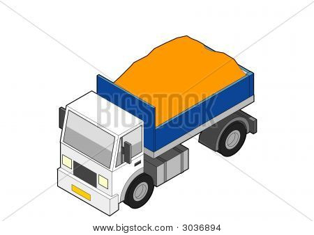 Isometric Dumper Truck - Loaded