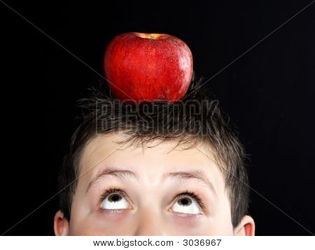 Boy With Apple On Head
