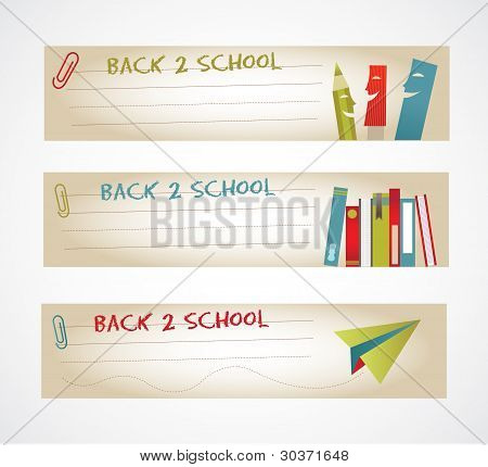 Cartoon School Banners