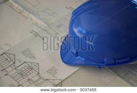 Hard Hat And Building Plans