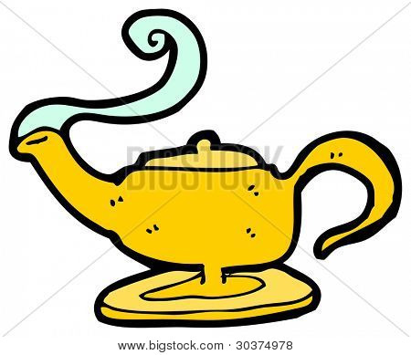 magic lamp cartoon