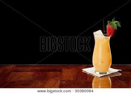 Orange Juice And Fresh Strawberry