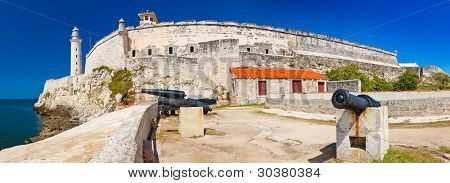 Panoramic view of the castle of El Morro, an iconic landmark and a symbol of Havana