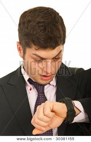 Amazed Business Man With Watch
