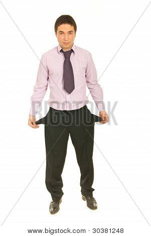 Business  Man With Empty Pockets