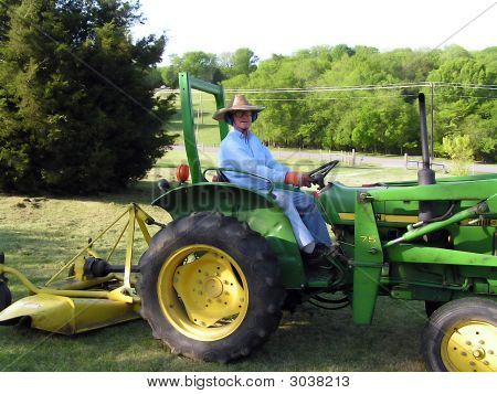 Man On A Tractor