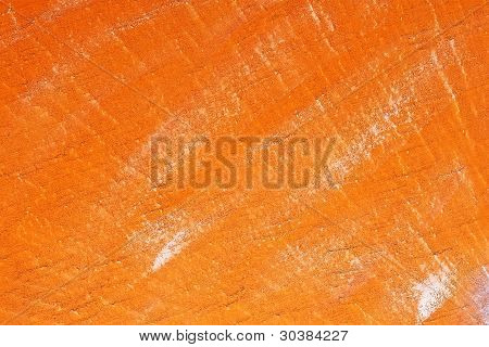 Concrete Wall Painted With Orange