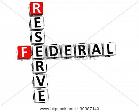 3D Reserve Federal Text Crossword