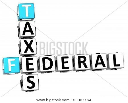 3D Taxes Federal Text Crossword