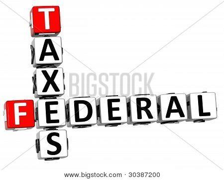 3D Taxes Federal Text Crossword