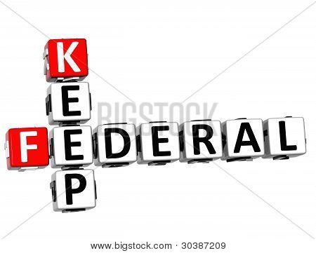 3D Keep Federal Text Crossword