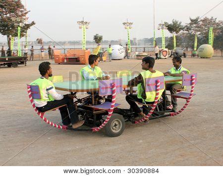 Dining table car-wacky cars
