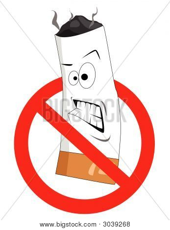 Cartoon No Smoking Sign Vector