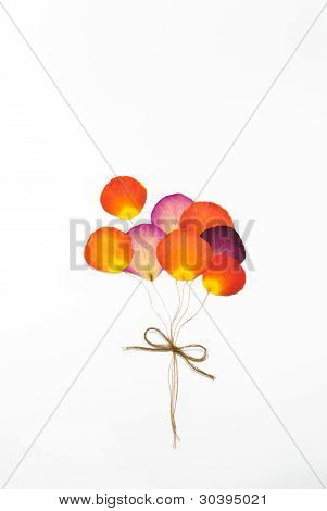 Balloon From Press Rose Flower