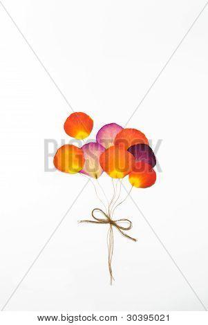 Balloon From Press Rose Flower