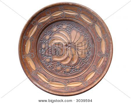 Hand Made Wooden Plate
