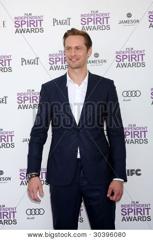 LOS ANGELES - FEB 25:  Alexander Skarsgard arrives at the 2012 Film Independent Spirit Awards at the Beach on February 25, 2012 in Santa Monica, CA