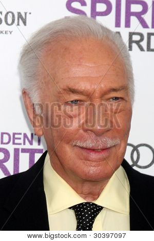 LOS ANGELES - FEB 25:  Christopher Plummer arrives at the 2012 Film Independent Spirit Awards at the Beach on February 25, 2012 in Santa Monica, CA