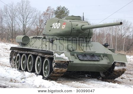 Old Russian Tank since World War Two