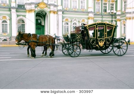 Carriage At The Winter Palace Square