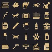 Vet Icons Set. Simple Set Of 25 Vet Vector Icons For Web For Any Design poster