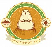 stock photo of groundhog day  - Groundhog day - JPG