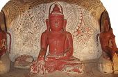 Painting On The Walls And Old Buddha Statues In Pho Win Taung Caves, Monywa City, Sagaing State, Mya poster