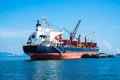 Logistics And Transportation ,international Container Cargo Ship In The Sea, Import Export Business  poster