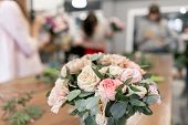 Master Class On Making Bouquets. Spring Bouquet. Learning Flower Arranging, Making Beautiful Bouquet poster