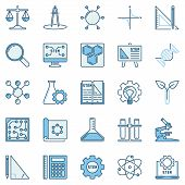 Stem Colored Icons Set - Vector Science, Technology, Engineering And Math Concept Logo Elements poster