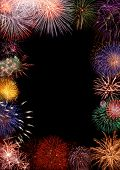 stock photo of firework display  - Collage  - JPG