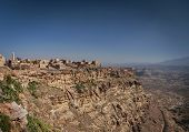 Kawkaban Ancient Traditional Architecture Hilltop Village In Haraz Mountains Of Yemen poster