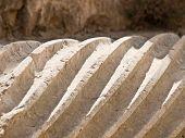 stock photo of cardo  - Roman Corinthian column details in the main street - JPG