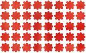 Watercolor Red Flowers. Watercolor Flowers Background. Watercolor Texture. Watercolor Geometric Patt poster