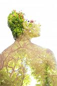 Harmonious growth between living beings and environment poster