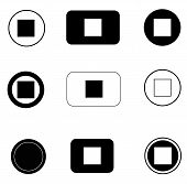 Set Stop Button Icon On White Background. Flat Style. Stop Button Icon For Your Web Site Design, Log poster