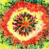 Seamless Tie-dye Pattern Of  Red And Green  Color On White Silk. Hand Painting Fabrics - Nodular Bat poster