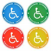 Disabled Person Wheelchair Accessibility Sticker Note,various Colors poster